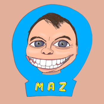 Maz/Blue - Men's T-Shirt Design