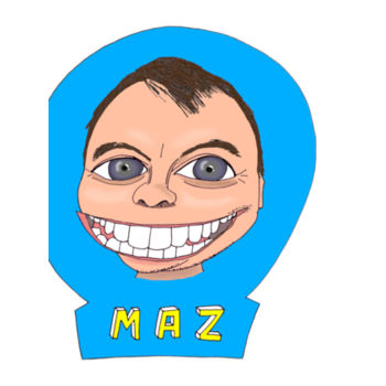 Maz/Blue - Tea-Towel Design