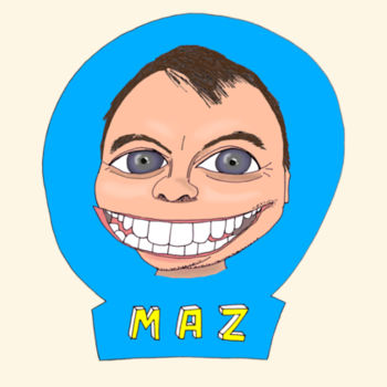 Maz/Blue - Tote Bag Design